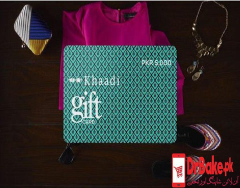 Khaadi Gift Card(Card Value=Rs. 1000) - Dr Bake Pakistan Send gifts to Lahore, Karachi, Islamabad, Pakistan