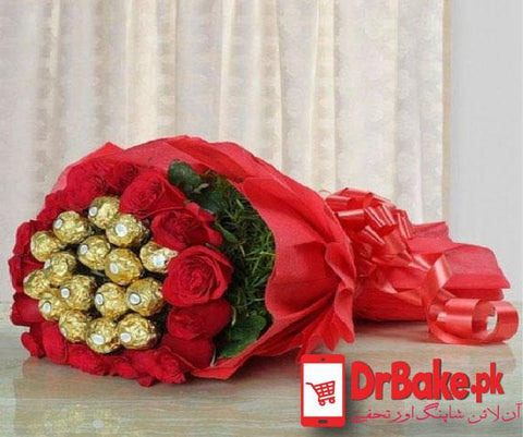 Jumbo Ferrero Rocher Bouquet - Dr Bake Pakistan Send gifts to Lahore, Karachi, Islamabad, Pakistan