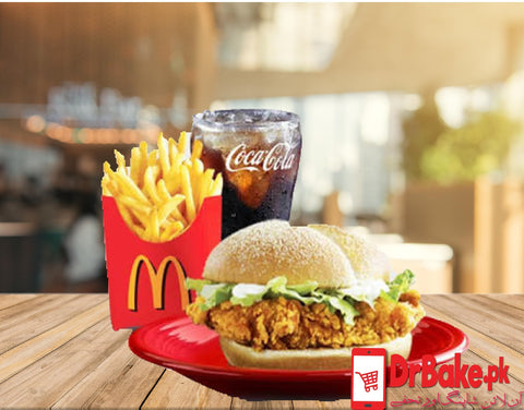 McDonald's Spicy McCrispy Chicken Deal - Dr Bake Pakistan Send gifts to Lahore, Karachi, Islamabad, Pakistan