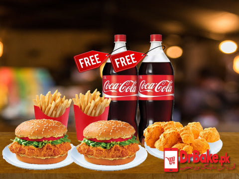 Savour Krispo Hot Burger Deal For 2 Persons-Savour Food - Dr Bake Pakistan Send gifts to Lahore, Karachi, Islamabad, Pakistan