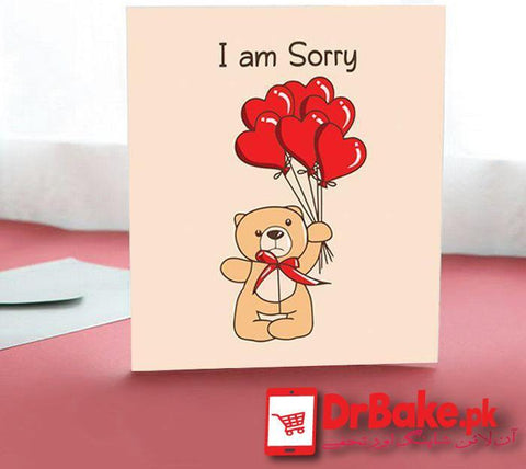 Sorry Card - Dr Bake Pakistan Send gifts to Lahore, Karachi, Islamabad, Pakistan
