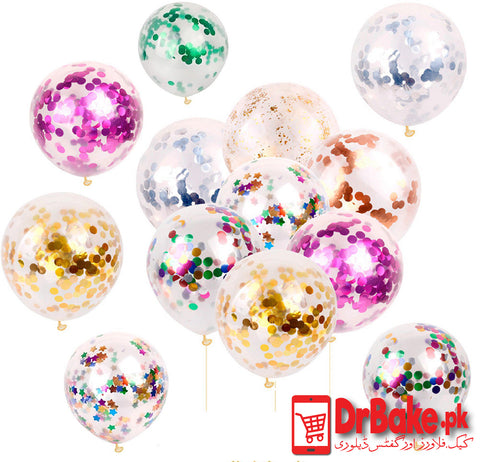 12 Confetti Balloons (Only For Lahore) - Dr Bake Pakistan Send gifts to Lahore, Karachi, Islamabad, Pakistan