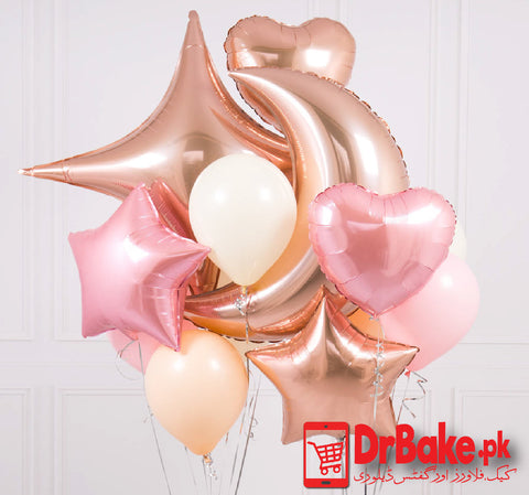 12 Different Shaped Foil Balloons (Only For Lahore) - Dr Bake Pakistan Send gifts to Lahore, Karachi, Islamabad, Pakistan