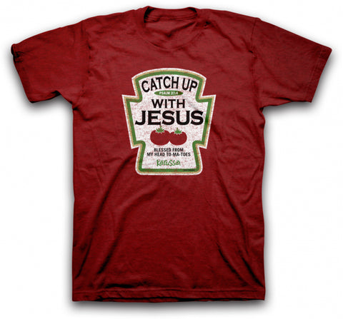Catch Up With Jesus Christian T-Shirt -  - 1