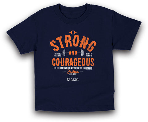 Strong and Courageous Kids Christian T-Shirt - T-shirt Store USA - 1