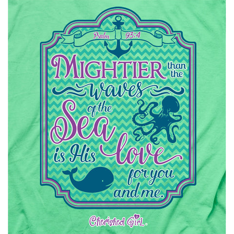 Mightier Than The Waves Christian T-Shirt - T-shirt Store USA - 1
