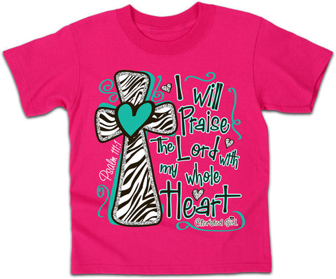 I Will Praise the Lord  - Kidz Cherished Girl T-Shirt - T-shirt Store USA - 1