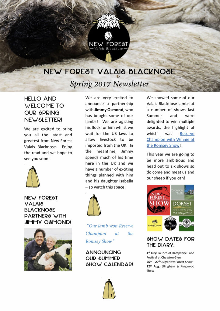 Our New Forest Valais Blacknose Newsletter is out!