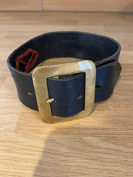 Adult Valais Blacknose Black Leather Show Collar