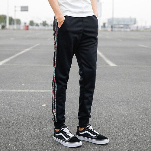 Casual Joggers With Stripe