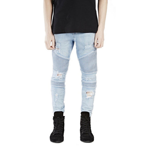 Destroyer Biker Denim Blue