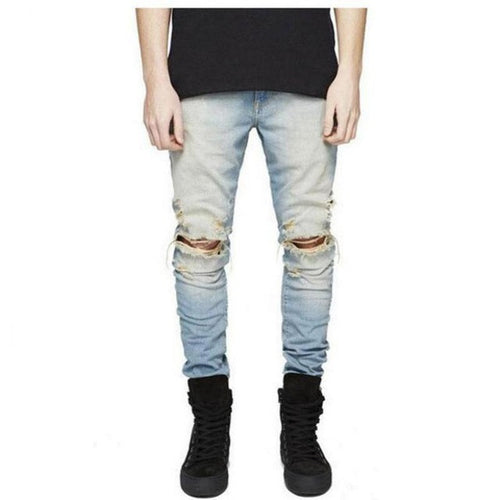 Distressed Jeans Vintage Blue