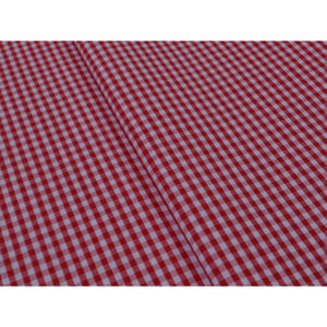 RED-GINGHAM CHECK