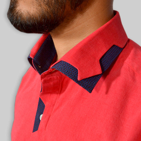 VERMILLION RED COLOR SHIRT