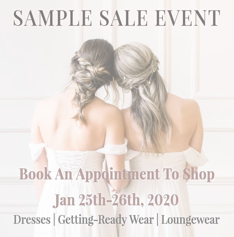 by catalfo bridal sample sale event in toronto