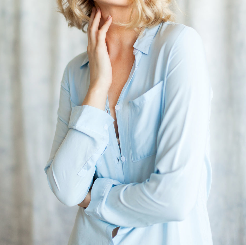 boyfriend shirt collection of loungewear for bridal parties from by catalfo