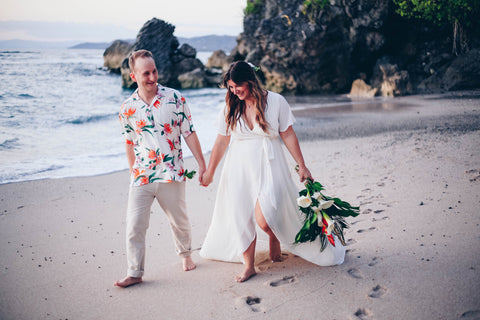 Costa Rican Elopement Wedding in By Catalfo Wedding Dress