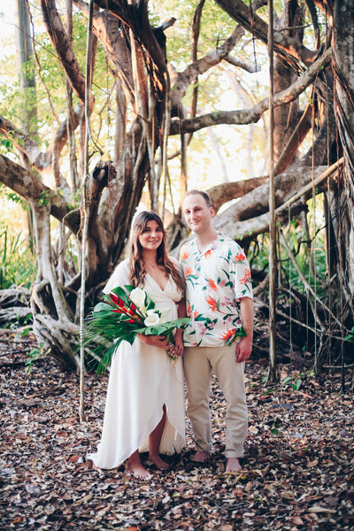 Costa Rican Elopement Wedding in By Catalfo Amalfi Wrap Dress