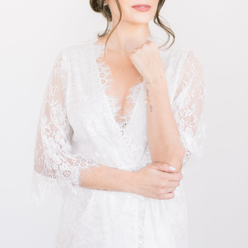 lace bridal robes collection from by catalfo for getting ready