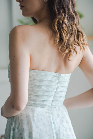 custom sage green bridesmaid dress in modern silhouette in toronto