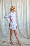 Lavender boyfriend shirt from by catalfo for getting-ready or beach cover up