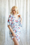 modern floral print loungewear robe for getting ready