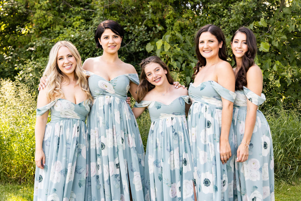 custom bridesmaid dress in silver sage green from by catalfo