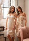 by catalfo white strapless bridesmaid dresses
