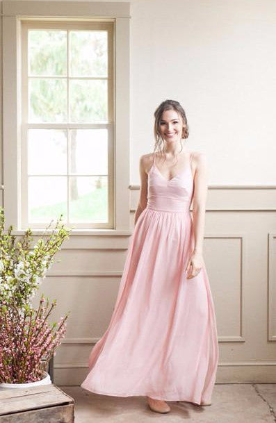 Modern Blush bridesmaid dress in Blush from by Catalfo