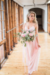 Flowy, custom bridesmaid dress in Toronto from by Catalfo