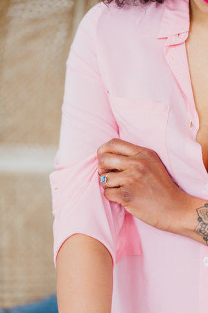 cuff details on by catalfo boyfriend shirt sleepwear and loungewear
