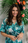 by catalfo tropical palm print getting ready robe