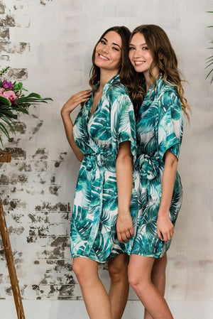 toronto tropical palm print loungewear in toronto from by catalfo