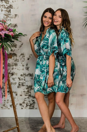 by catalfo tropical print bridesmaid robe in toronto