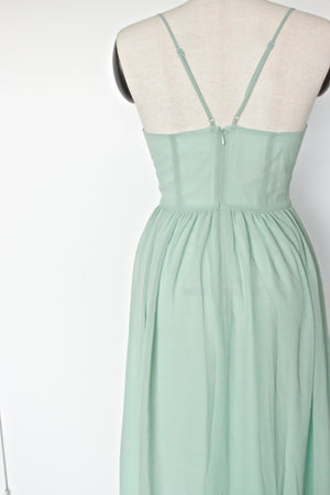 Flowy, modern bridesmaid dress in Sage Green from by catalfo in silver sage