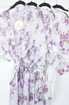 set of wedding day getting ready floral print robes for bridesmaids from by catalfo