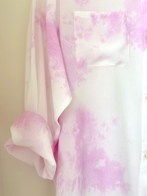 Sunset Pink Tie Dye Boyfriend Shirt