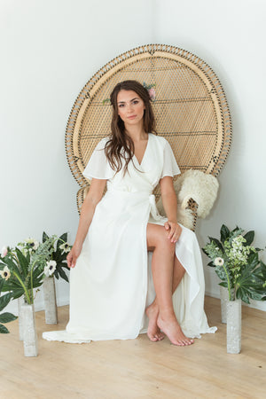 modern elopement dress for a simple wedding