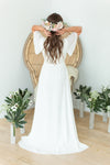 Elegant and modern wedding dress for intimate weddings
