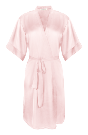 Luxurious, silky blush Luxe Robe from By Catalfo in Toronto