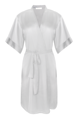 Luxury, silky robe in Chic Grey from By Catalfo in Toronto Canada