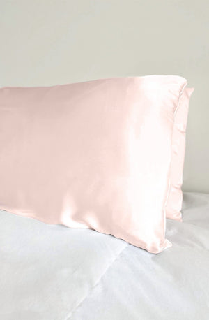 blush silk pillowcase for a soft and luxurious sleep