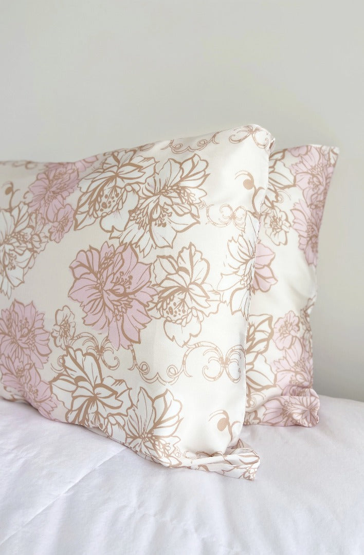 floral print satin pillowcase