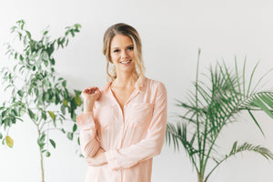 Peach or Coral sleep shirt for getting ready or bridesmaid gifts