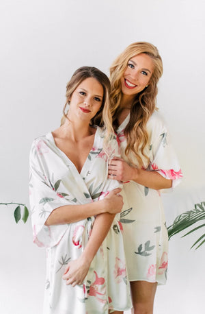 peony bridesmaid robe for getting ready from by catalfo