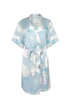 by catalfo floral print wedding robe in blush and sage green