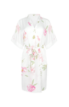 peony print white floral bridal robe from by catalfo
