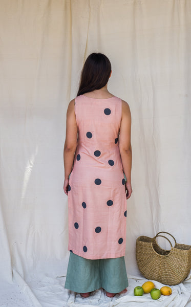 Aziza polka dress