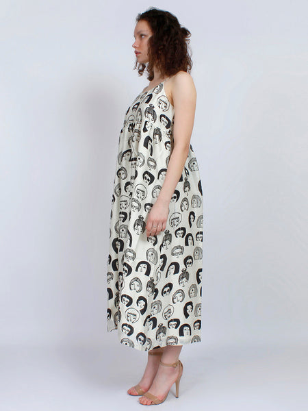 Unknown Faces Chanderi Dress