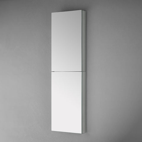 "Fresca 52"" Tall Bathroom Medicine Cabinet w Mirrors"